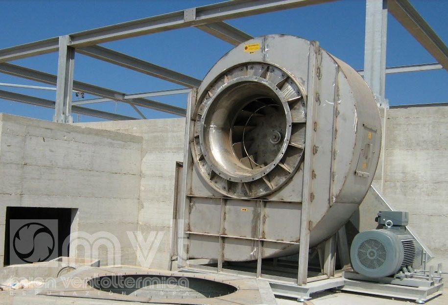 High Pressure Centrifugal Blowers : Centrifugal fan high pressure suction of dust mvtplant