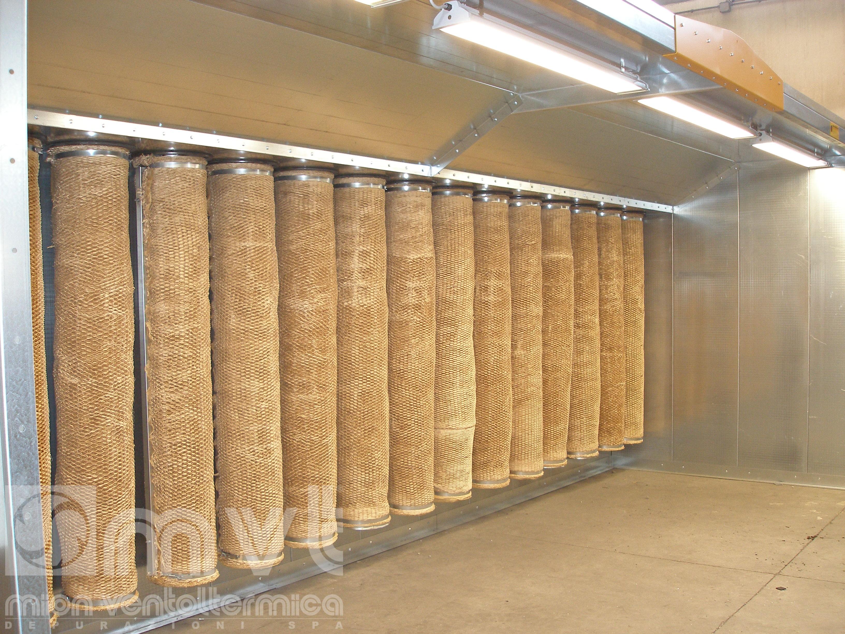 cabine di verniciatura a secco
