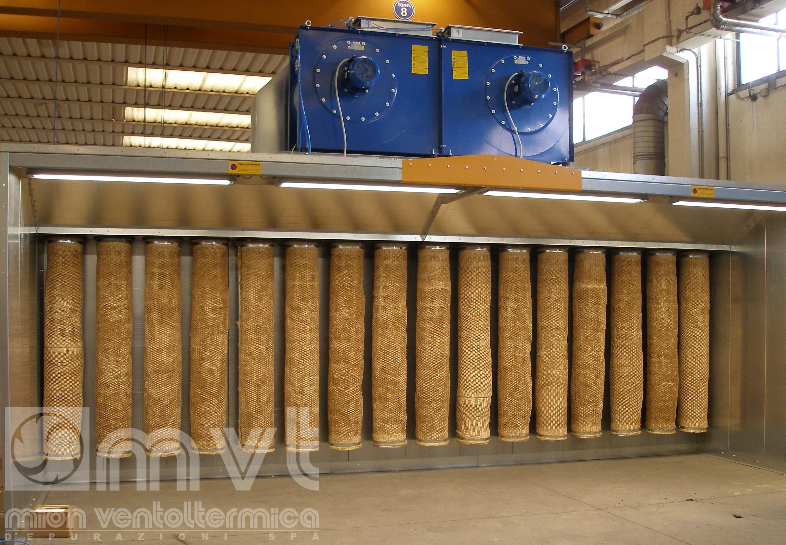 cabine di verniciatura - aspirazione polveri | mion ventoltermica