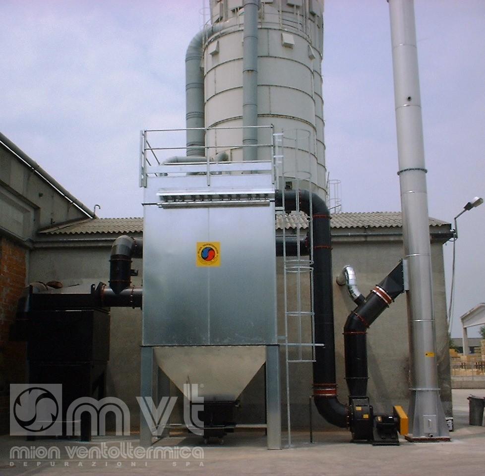 Impianto trattamento polveri da fumi di combustione