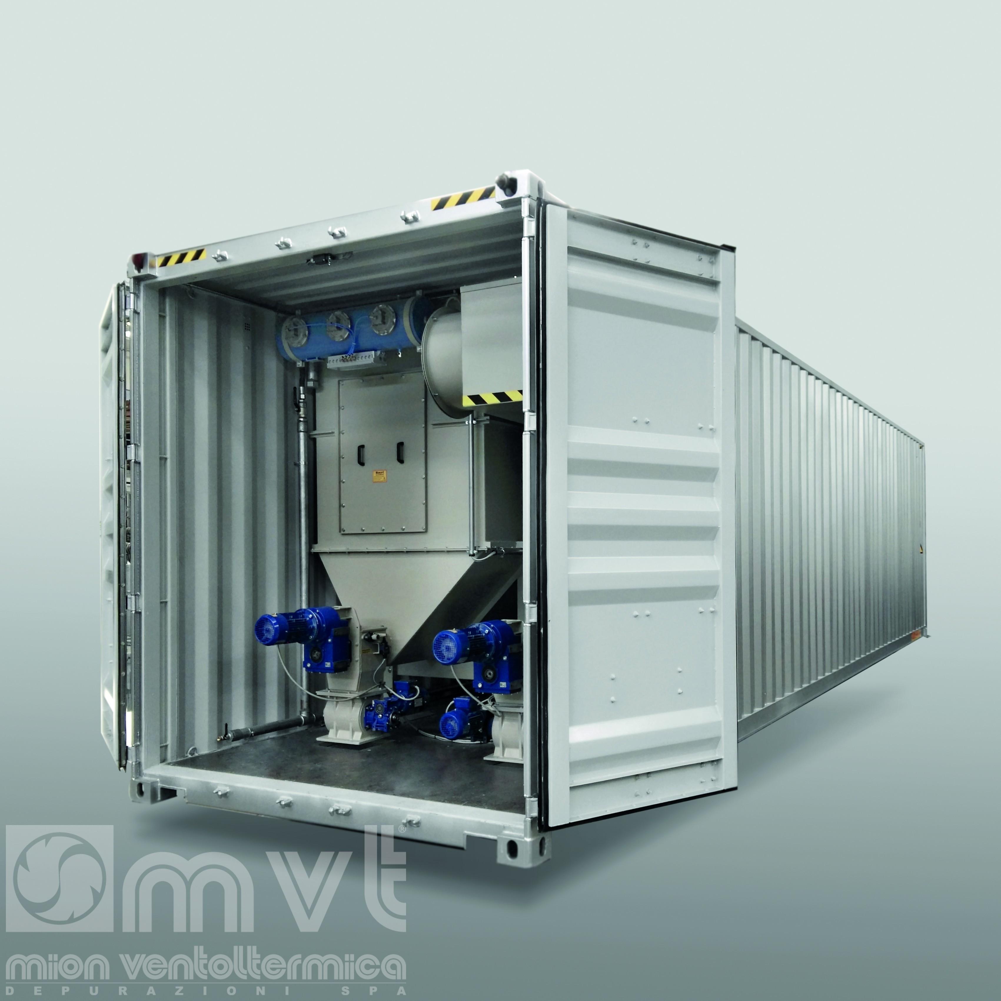 AIR BOX Sistema di aspirazione - Suction system in a container